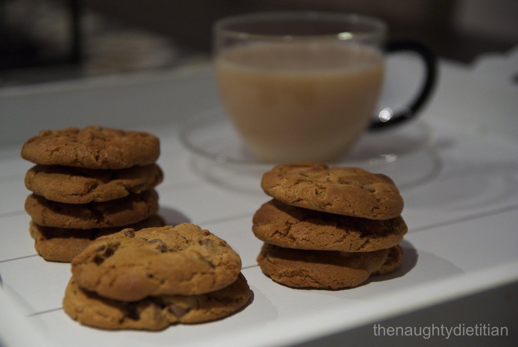 Flourless Peanut Butter Choc Chip Biscuits