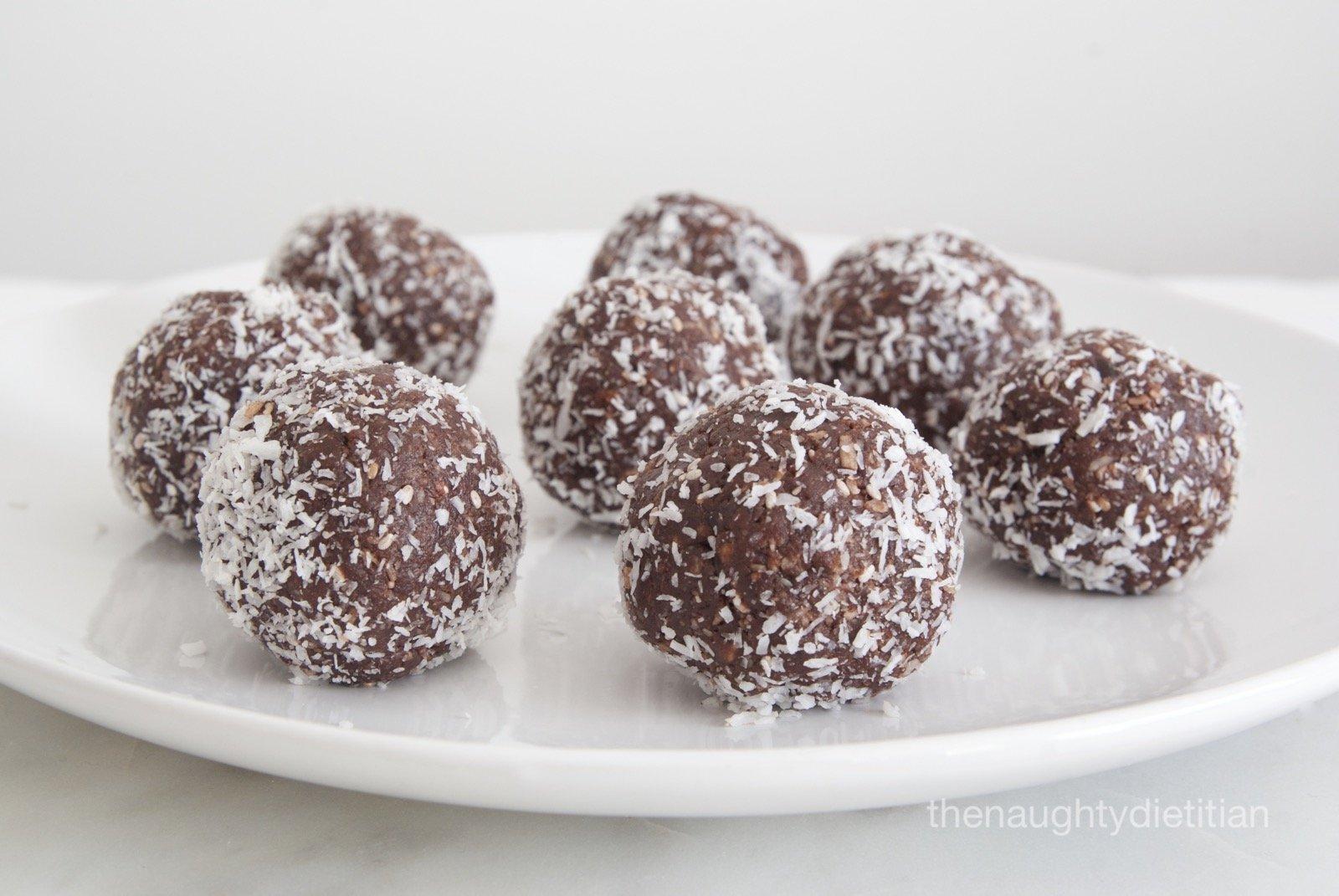 Almond Coconut Cacao Balls Gluten Free